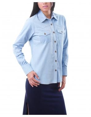 Camisa denim manga larga