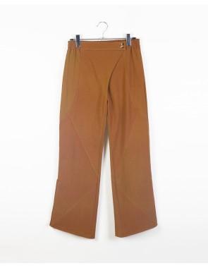 Pantalón harem con abertura en tobillo