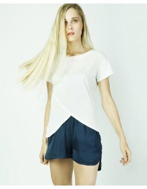 Camiseta asimétrica manga corta