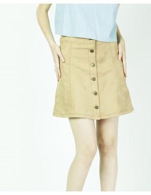 Mini falda cuero volteado