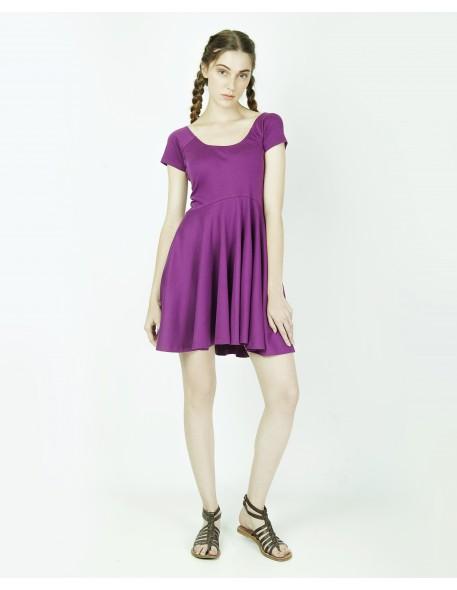 Vestido algodón con escote bailarina